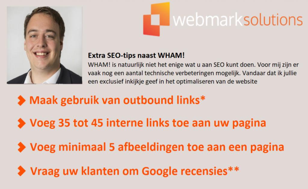 Extra SEO tips voor een optimale webpagina