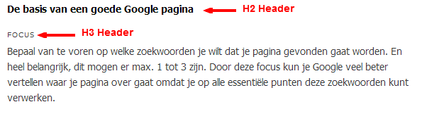Perfecte headers voor een optimale webpagina